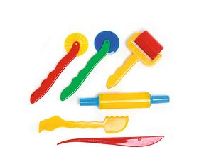 Modellier-Wekrzeug-Set 6, teilig, Kunststoff