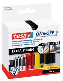 On & Off® Extra Stark Klettband 50mm:100cm schwarz Klebebänder Tesa 663080200000 Bild Nr. 1