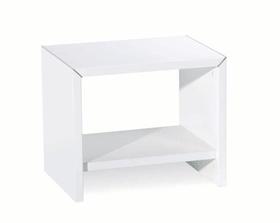 PERO Table de chevet HASENA 403128585210 Dimensions L: 45.0 cm x P: 35.0 cm x H: 38.0 cm Couleur Blanc Photo no. 1