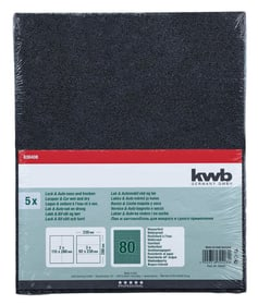 Carta abrasiva per venice GR. 80, 5 pz. kwb 610553100000 N. figura 1