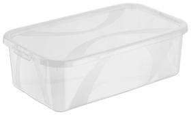 ARCO Lot de 8 boîtes de rangement 5l avec couvercle, Plastique (PP) sans BPA, transparent, 8 x 5l Boîte de rangement Rotho 604048300000 Photo no. 1