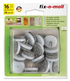 Filzgleiter mit Stift 4 mm / Ø 24 mm 16 x Filzgleiter Fix-O-Moll 607070100000 Bild Nr. 1