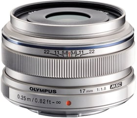 M.Zuiko DIGITAL 17mm F1.8 argent