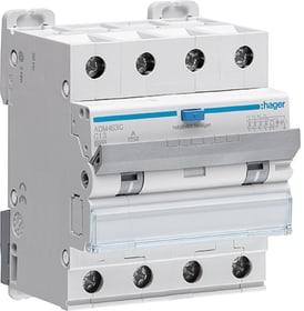 Interruttore differenziale C-13A/30mA, 6kA 4P tipo A Fehlerstrom-Leitungsschutzschalter Hager 612167300000 N. figura 1