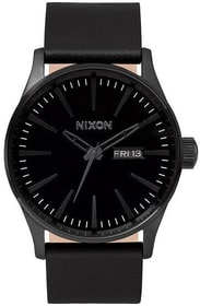 Sentry Leather All Black 42 mm Orologio da polso Nixon 785300136946 N. figura 1