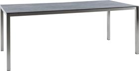 LOCARNO, 180 cm, struttura acciaio inox, piano Ceramica Tavolo 753193218020 Taglio L: 180.0 cm x L: 85.0 cm x A: 74.0 cm Colore Dark Night N. figura 1