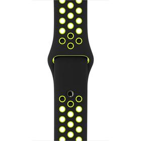 38 mm Nike Sportarmband, Schwarz/Volt – S/M und M/L