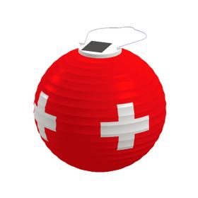 Lampe solaire LED Lampion croix suisse