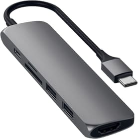USB-C Slim Aluminium V2 Multiport Adapter Satechi 785300142372 Bild Nr. 1