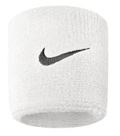 Swoosh Wristbands Fascia da polso Nike 473202299910 Taglie One Size Colore bianco N. figura 1