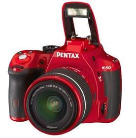 Pentax K-50 rot 18-55mm WR + 50-200mm WR Pentax 95110003540713 Bild Nr. 1