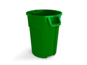 Rotho Pro Titan Poubelle 120l sans couvercle, Plastique (PP) sans BPA, vert rothopro 674137400000 Photo no. 1