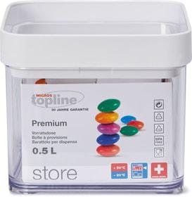 STORE Boîte à provisions M-Topline 703728700001 Couleur Transparent, Blanc Dimensions L: 10.0 cm x P: 10.0 cm x H: 8.4 cm Photo no. 1