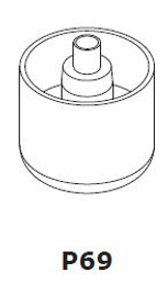 Kunststoff-Fuss Set Marron Bett 9000035350 Bild Nr. 1
