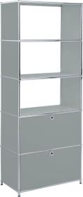 FLEXCUBE Regal 401815510580 Grösse B: 77.0 cm x T: 40.0 cm x H: 193.0 cm Farbe Grau Bild Nr. 1
