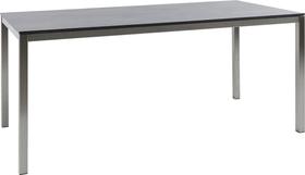 LOCARNO, 180 cm, struttura acciaio inox, piano HPL Tavolo 753193818070 Taglio L: 180.0 cm x L: 85.0 cm x A: 74.0 cm Colore Oxido Terra N. figura 1
