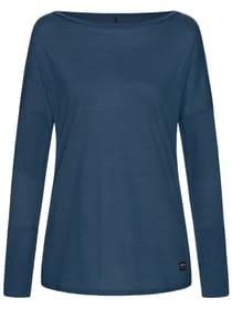 W Travel LS T-shirt à manches longues de yoga pour femme super.natural 468063600222 Taille XS Couleur bleu foncé Photo no. 1