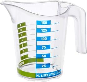 DOMINO Kleiner Messbecher 0.15l mit Skala, Kunststoff (PP) BPA-frei, transparent Küche Rotho 604063900000 Bild Nr. 1