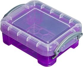 Ordnungsbox 0.07L Aufbewahrungsbox Really Useful Box 603729600000 Grösse L: 9.0 cm x B: 6.5 cm x H: 3.0 cm Farbe Violett Bild Nr. 1