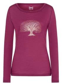 W Yoga Tree LS Yogashirt super.natural 468063000345 Grösse S Farbe Violett Bild-Nr. 1