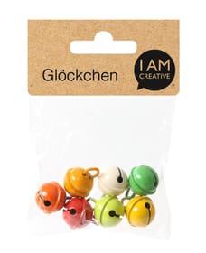 Glöckchen ø 15 mm, gelb / rot / grün Glöckchen 668054000000 Bild Nr. 1
