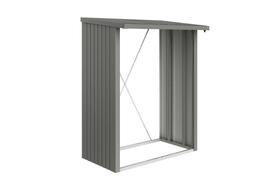 Parete di fondo per scaffale per la legna Wood Stock 150 Biohort 647244100000 Colore Grigio Quartz-Metallico N. figura 1