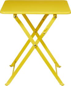 CANCUN 40 x 40 cm Klapptisch 753178000050 Grösse L: 40.0 cm x B: 40.0 cm x H: 45.0 cm Farbe Gelb Bild Nr. 1