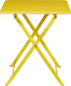 CANCUN Table pliante 753178000050 Taille L: 40.0 cm x L: 40.0 cm x H: 45.0 cm Couleur Jaune Photo no. 1