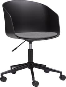 WEST Chaise de bureau 401509600000 Dimensions L: 65.0 cm x P: 65.0 cm x H: 76.0 cm Couleur Noir Photo no. 1