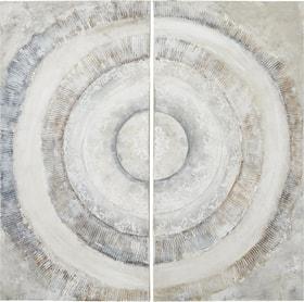 SEASHELL Tableau peint à la main en 2 parties 431844500000 Photo no. 1