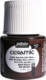 PÉBÉO Ceramic Keramikmalfarbe 18 Red Brown 45ml Pebeo 663510001700 Farbe Rotbraun Bild Nr. 1