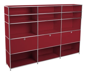 FLEXCUBE Scaffale 401815430430 Dimensioni L: 227.0 cm x P: 40.0 cm x A: 157.0 cm Colore Rosso N. figura 1