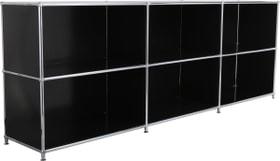 FLEXCUBE Sideboard 401809500020 Grösse B: 227.0 cm x T: 40.0 cm x H: 80.5 cm Farbe Schwarz Bild Nr. 1