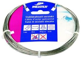 Stahldrahtseil verzinkt Meister 604725900000 Grösse 1 mm x 10 m Bild Nr. 1