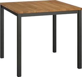 ALEXIS II Table 402399415012 Dimensions L: 80.0 cm x P: 80.0 cm x H: 75.0 cm Couleur Chêne massif Photo no. 1