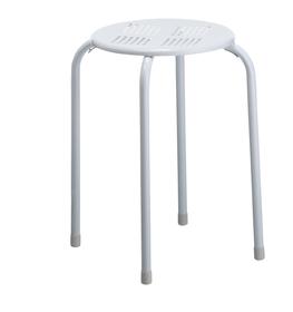 OLLY Sgabello in metallo 403817401110 Dimensioni L: 30.0 cm x P: 30.0 cm x A: 45.0 cm Colore Bianco N. figura 1
