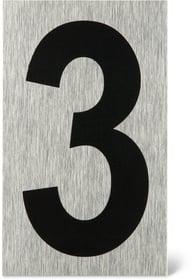 Placca porta numero 3 Enseigne de porte Alpertec 614103660630 N. figura 1