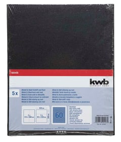 Carta abrasiva per metall GR. 60, 5 pz. kwb 610552400000 N. figura 1