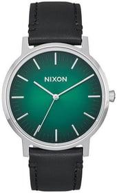 Porter Leather Green Ombre Black 40 mm Montre bracelet Nixon 785300136981 Photo no. 1