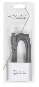 USB 2.0 Verlängerung 1.8m grau