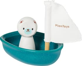WATER PLAY Bateau à voile polar bear Plan Toys 404730602465 Dimensions L: 9.0 cm x P: 12.0 cm x H: 10.5 cm Couleur turquoise Photo no. 1