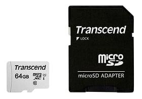 microSD Card 300S, 64GB SDXC inkl. Adapter microSD Karten Transcend 785300147302 Bild Nr. 1
