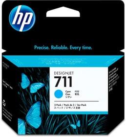 711 CZ134A   pack de 3 cyan Cartouche d'encre HP 795849700000 Photo no. 1