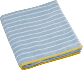 STRIPES Serviette de bain 450882720591 Couleur Bleu clair, Blanc Dimensions L: 70.0 cm x H: 140.0 cm Photo no. 1