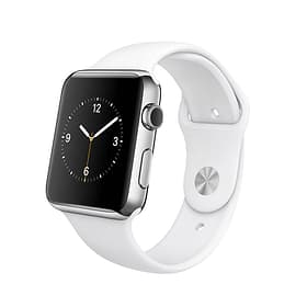 Watch, 42mm Stainless Steel Case with White Sport Band Apple 79787840000015 Bild Nr. 1