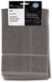 Küchentuch Frottée 2er Pack Cucina & Tavola 700349500080 Farbe Grau Grösse B: 50.0 cm x H: 50.0 cm Bild Nr. 1
