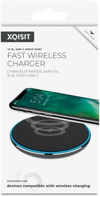 Wireless Fast Charger 15W nero Caricabatterie XQISIT 798686800000 N. figura 1
