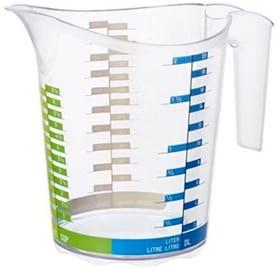 DOMINO Messbecher 2l mit Skala, Kunststoff (PP) BPA-frei, transparent Küche Rotho 604066000000 Bild Nr. 1