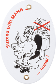 Panneau en émail Männer-Toiletten-Gebot 605069400000 Photo no. 1