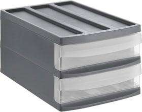 SYSTEMIX Boîte à 2 tiroirs, Plastique (PP) sans BPA, anthracite Boîte à tiroirs Rotho 604052000000 Photo no. 1